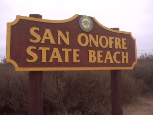 san onofre sign
