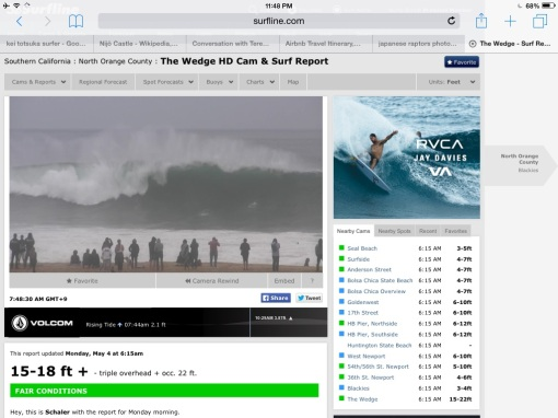 Clear the beach. Set at the Wedge!