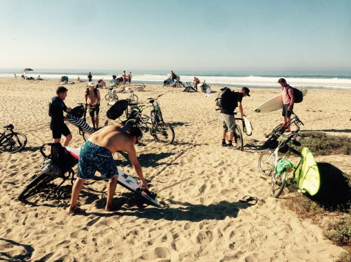Bike Traffic on the Busiest Day of the Year -- Uppers
